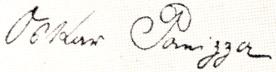 Oskar Panizza signature